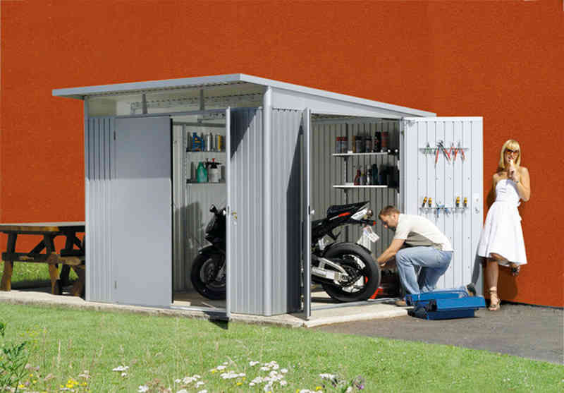 Biohort avantgarde xl caseta cobertizo jardin 260 300 for Caseta para guardar bicis