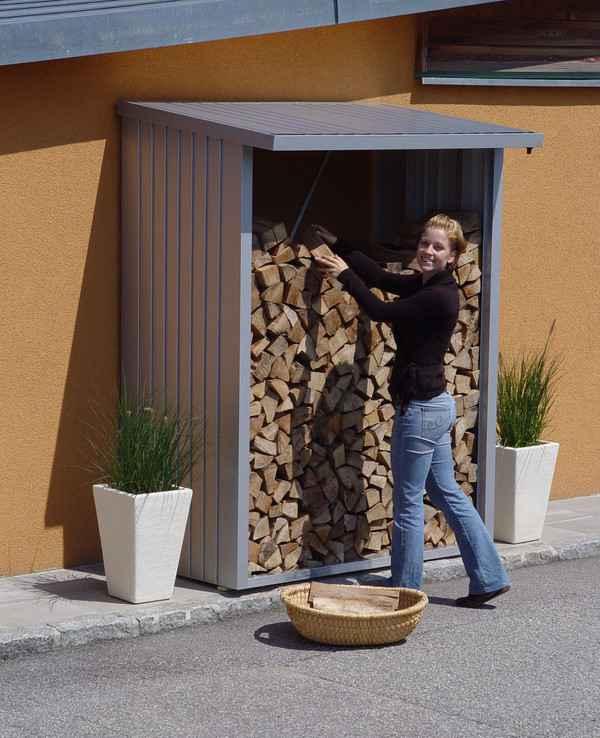 Biohort woodstock 150 cobertizo para le a armario jardin for Casetas metalicas a medida