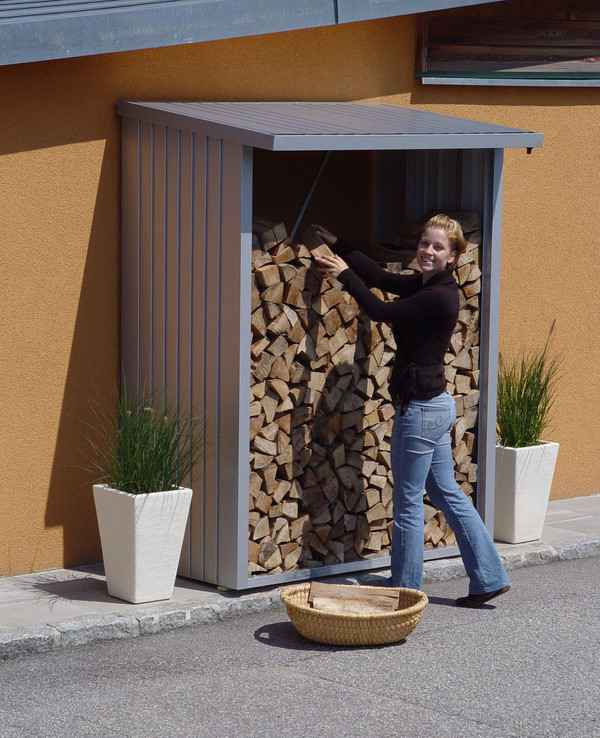 biohort woodstock 150 cobertizo para le a armario jardin
