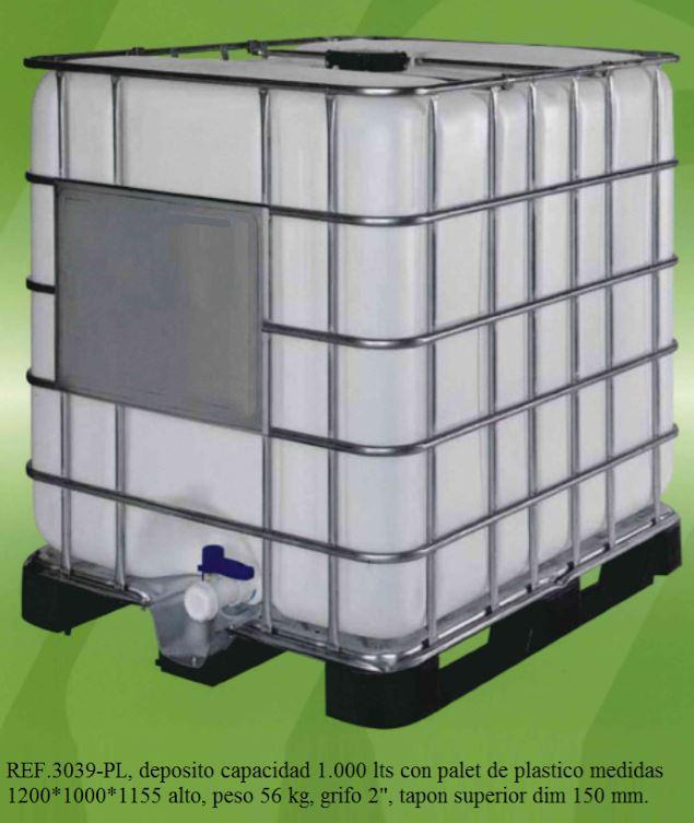 Novodin mica dep sito pl stico 1000 litros 3039 for Precio de estanque de agua 1000 litros