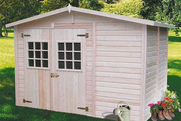 Nortene caseta casa de madera alba 19mm 330 220 420021 for Casa para herramientas
