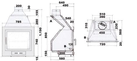 Hergom h 02 22 hogar calefactor por agua radiadores y for Termoestufas de lena para radiadores