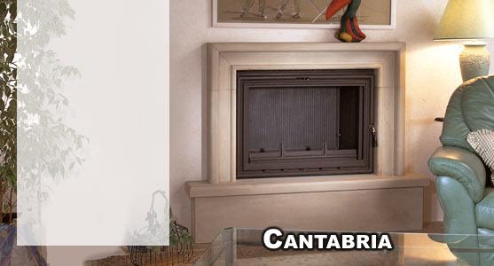 Hergom revestimiento chimenea piedra arenisca cantabria - Revestimiento de chimeneas modernas ...