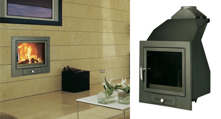 Hergom h 02 22 hogar calefactor por agua radiadores y agua caliente sanitaria - Estufas de lena para calefaccion con radiadores ...