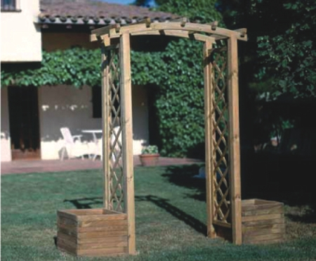 Seifil percan arco decorativo madera para jard n 413001 for Arco decorativo jardin