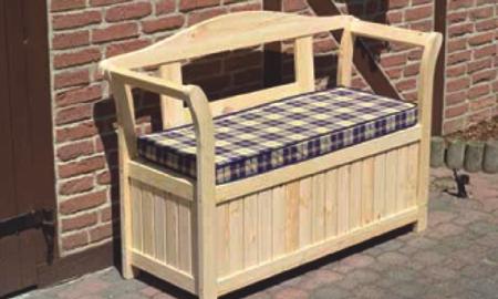 Seifil percan banco con arcon para jardin 413310 for Bancos de jardin con almacenaje