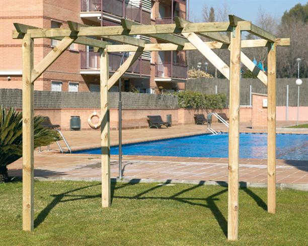 Postes de madera para pergolas como construir una pergola - Construir pergola de madera ...