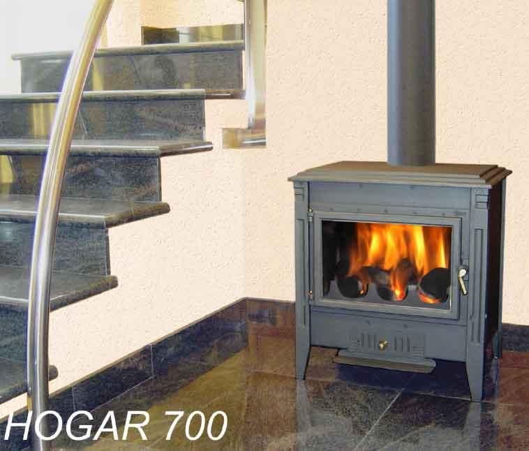 Theca hogar 700 barcelona estufa para le a y briquetas for Hogar a lena medidas