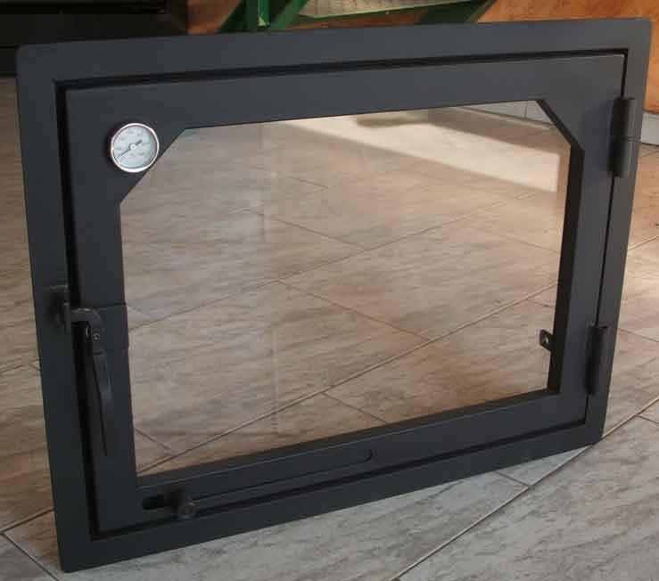 Puerta de cristal para chimenea precio materiales de for Precio de puertas francesas