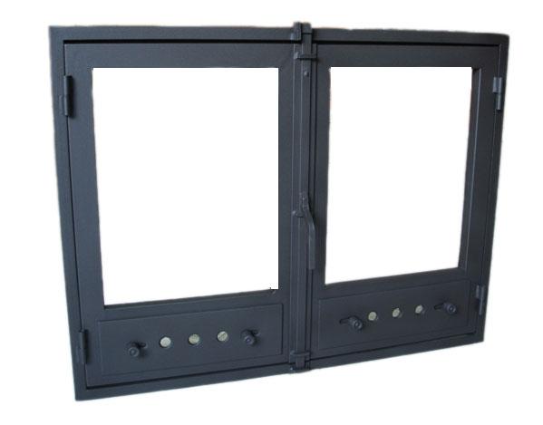 Puerta de cristal para chimenea precio