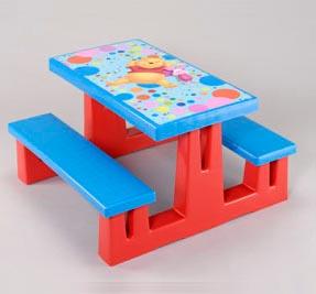 Progarden mesa picnic infantil winnie de pooh - Mesa resina infantil ...