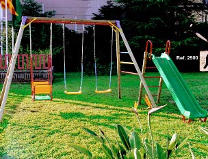 Llobell columpio infantil jardin madera 2001 - Columpio madera jardin ...