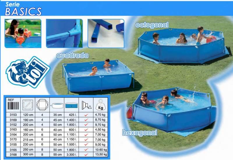toi 3165 basics piscina desmontable para ni os