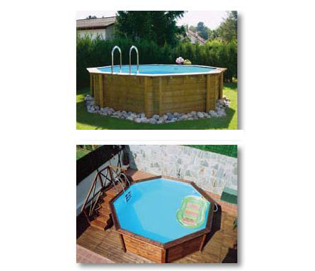 Quimicamp piscina europea elevada de madera prefabricada for Piscina elevada madera