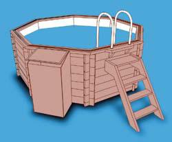 Quimicamp piscinas prefabricadas elevadas de madera for Piscina elevada madera
