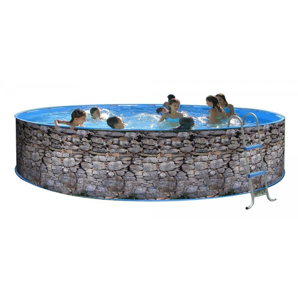 Toi 8138 piscina elevada circular revestimiento - Piscinas desmontables rigidas ...