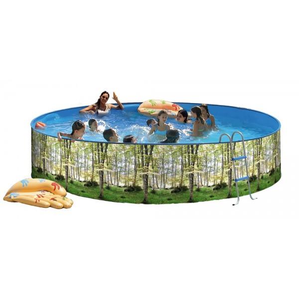 Toi 8318 piscina elevada redonda serie bosque for Funda piscina redonda