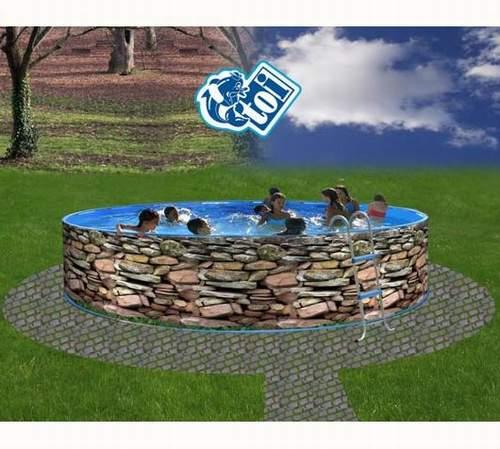 Toi 8522 muro piscina sobre suelo redonda - Piscinas sobre suelo ...