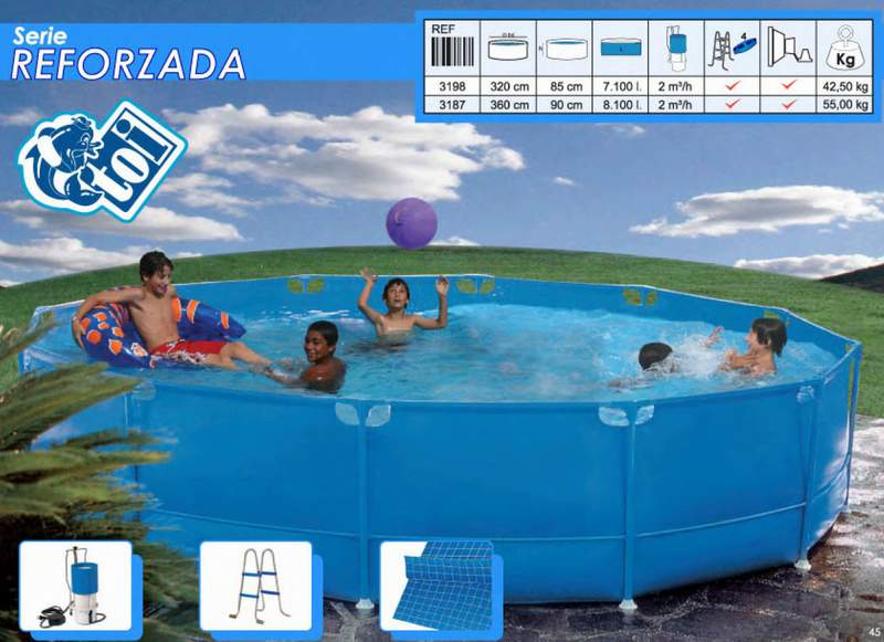 Toi 3187 piscina tubular reforzada desmontable for Piscinas desmontables toi