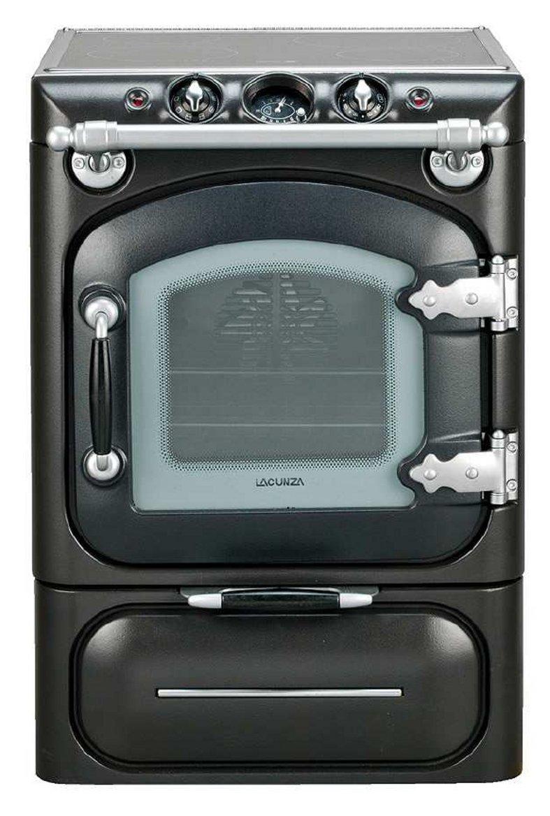Lacunza century cocina de gas negro mate cromo mate for Cocina vitroceramica a gas