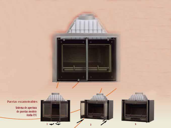 Lacunza chimenea de le a andia p e 2 puertas escamoteables - Puertas escamoteables ...