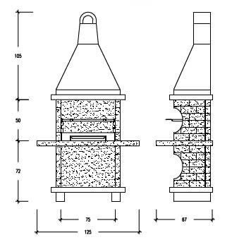 Barbacoa de obra planos top de barbacoas obra rusticas para jardin baracoa decoracion barbaros - Planos barbacoas de obra ...