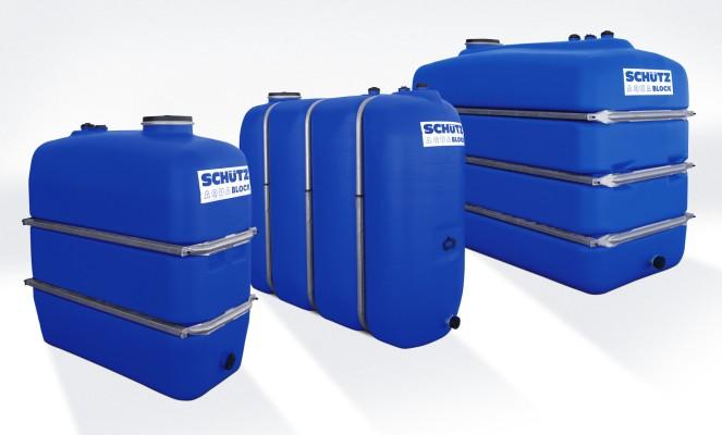 Schutz depositos agua aquablock soplado con bandas 3000 l - Deposito de agua potable ...