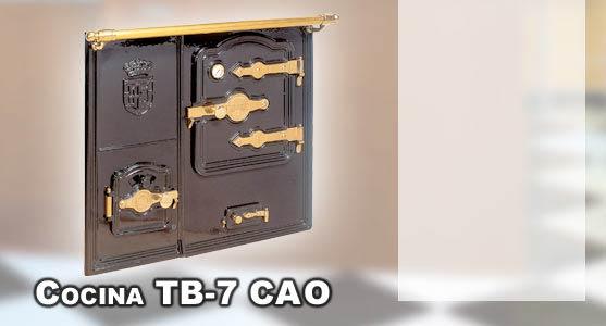 Hergom tb 7 cao cocina calefactora abierta bilbaina carbon for Pailas para cocinas calefactoras