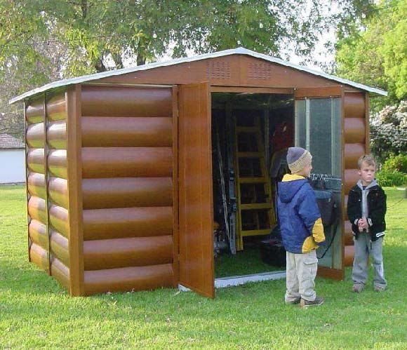 Steel max 207 caseta metalica jardin imitaci n madera 4 for Casetas de jardin metalicas baratas