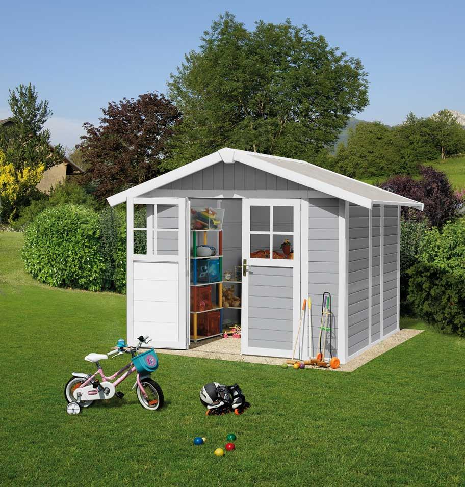 Grosfillex linea deco 4 9 m 2 garden home casa jardin pvc for Casa para almacenaje jardin