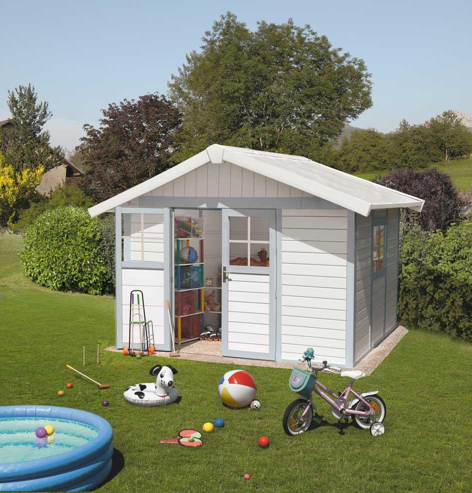 Grosfillex linea deco 7 5 garden home casa de jardin pvc for Casas de pvc para jardin