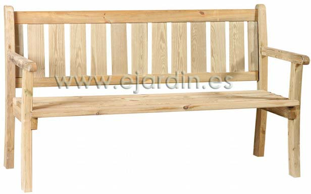 Jarbric banco jardin clasico de madera tratada 50 x 200 - Bancos de jardin de madera ...