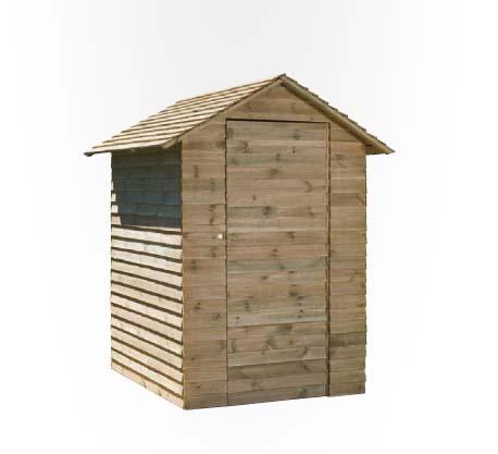 Jarbric caseta brico de madera para jardin 13 mm for Casetas de metal para jardin