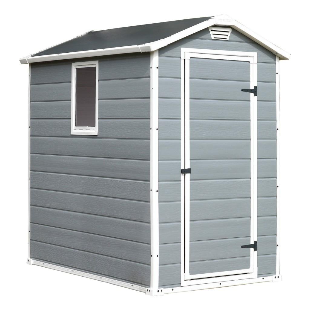 Keter manor 46 4 6 grey caseta cobertizo gris 2 2 m2 for Casetas jardin resina baratas