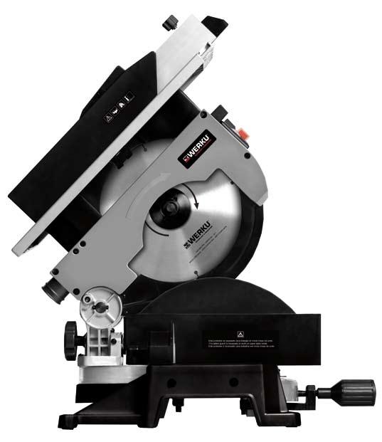 Werku WK 402650 Sierra ingletadora 250 mm 1800 W