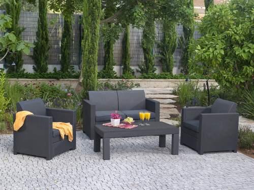 Keter conjunto rattan limusine muebles para exterior - Salon de jardin en resine lauren keter ...