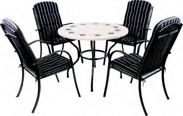 Tryun conjunto terraza alfa mesa 4 sillas for Mesas para terrazas baratas
