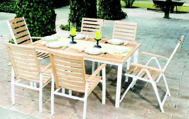 Tryun ty 320 conjunto mesa sillas terraza jardin for Conjunto jardin madera