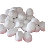 Purline Piedras decorativas grandes color blanco WINCBTOUT-05