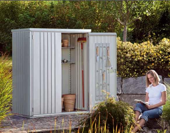 Biohort armario de jardin metalico 1 28 m2 155 83 for Armario metalico exterior
