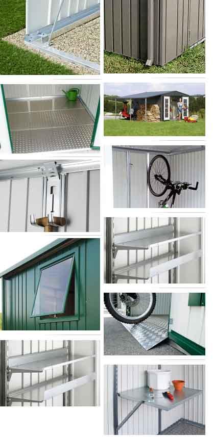 Caseta metalica biohort jardin europa 6 casetas y for Caseta aluminio jardin