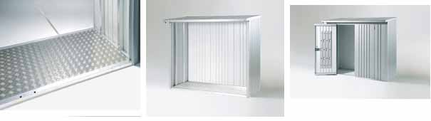 Biohort woodstock 150 cobertizo para le a armario jardin for Caseta de chapa desmontable
