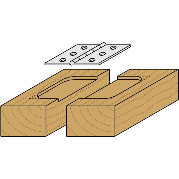 cmt fresa recta corta madera ranurar 19 mm m8