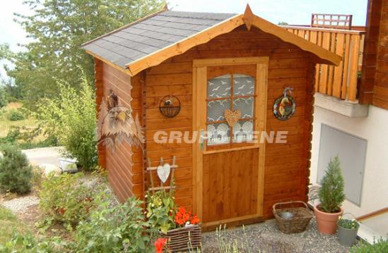 Grupo tene tiina a caseta de madera para jard n 220 220 for Caseta de jardin de madera