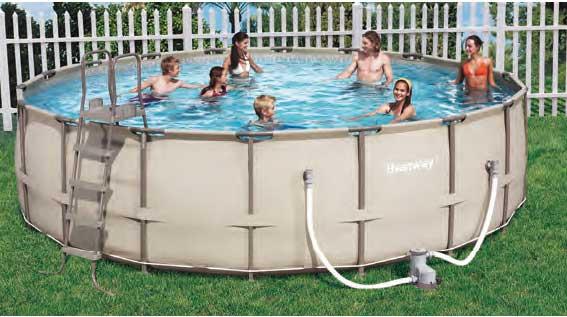 Bestway 56235 piscina redonda sobre suelo 457 122 for Piscina tubular bestway