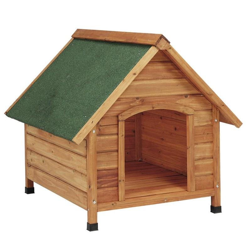 Copele caseta perro madera 2 aguas mediana 70498 - Caseta perro carrefour ...
