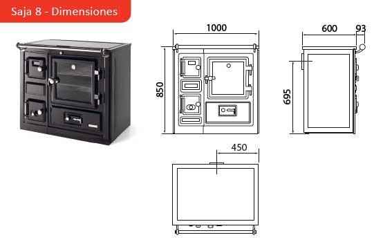 Hergom cocina bilbaina calefactora cerrada saja 8 - Medida encimera cocina ...
