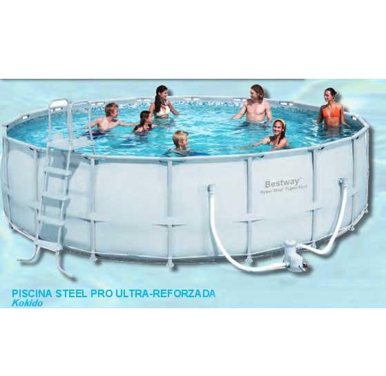 Bestway piscina power steel 56232 for Montaje piscina bestway