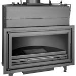 Ferlux Bloque K-100 Hogar Calefactor por Agua en Acero