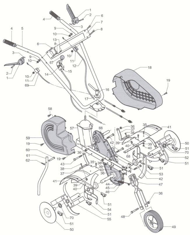 Mep Electrolux Polo 50 R Motoazada Gasolina Honda 5 Hp